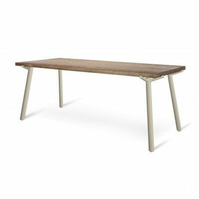 Branch Dining Table Size: 76 W, Leg Finish: Grey, Top Finish: Natural