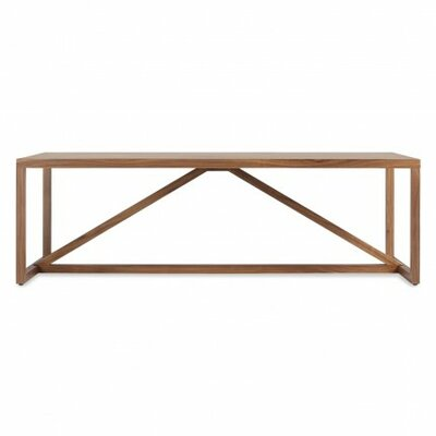 Strut Square Coffee Table Color: Walnut