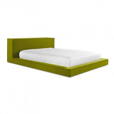 Dodu Upholstered Platform Bed Size: Full, Upholstery: Thurmond Acid Green