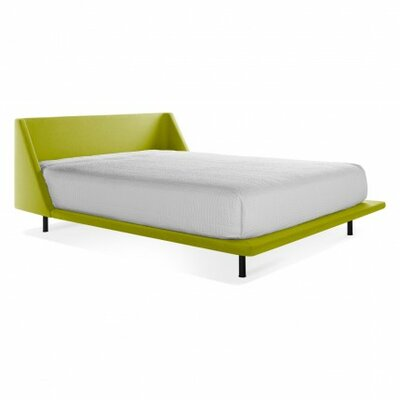 Nook Upholstered Platform Bed Size: Twin, Finish: Guacamole