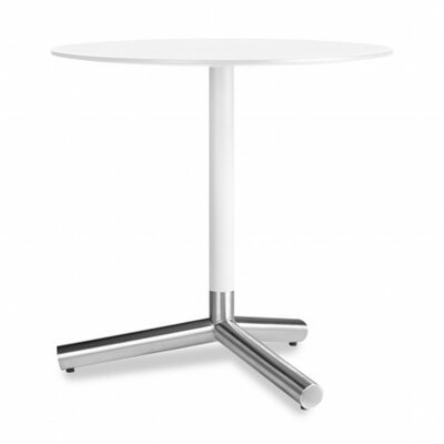 Sprout End Table Top and Stem: White