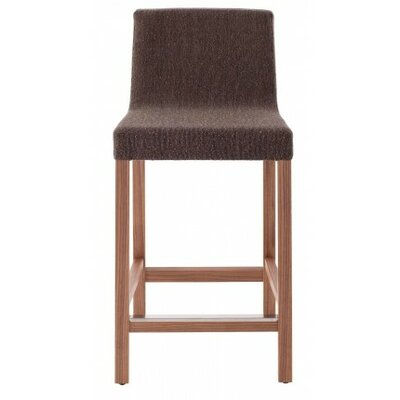 Knicker 25.5 inch Bar Stool Upholstery: Dark Roast Fabric