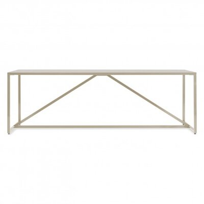 Strut Table Finish: Ivory, Size: Large - 74.5