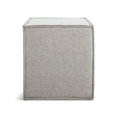 Otto Cube Ottoman Body Fabric: Thurmond Light Grey