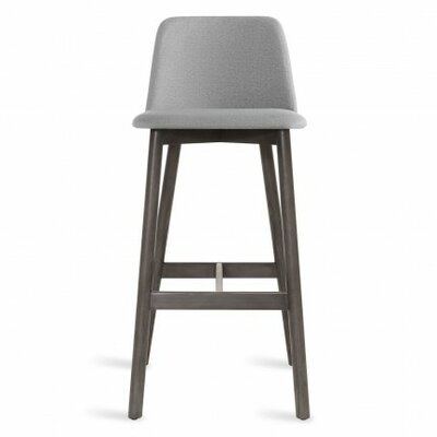 Chip 31.5 Bar Stool Body Fabric: Pewter, Leg Color: Smoke