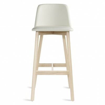 Chip 31.5 Bar Stool Upholstery: White Leather, Leg Finish: White Wash Ash