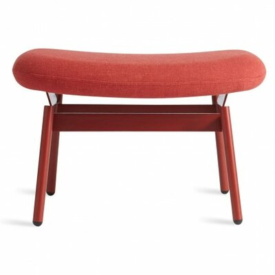 Field Ottoman Cushion Fabric: Craig Red, Leg Color: Red
