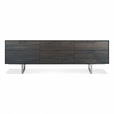 Series 11 Six Drawer TV Stand Wood Finish: Smoke-On-Ash