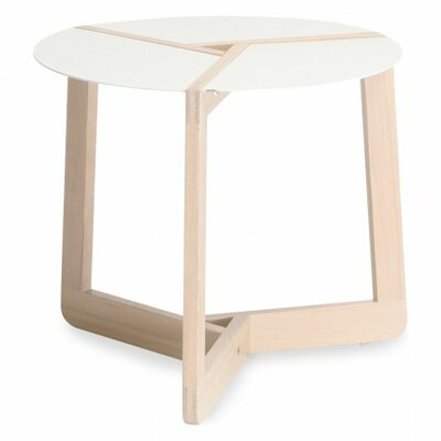 Pi Small End Table Size: Small, Finish: White Ash