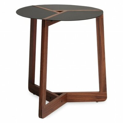 Pi Small End Table Size: Large, Finish: Walnut