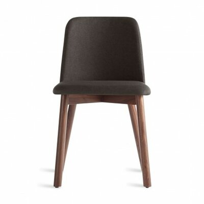 Chip Side Chair in Pewter Color: Walnut