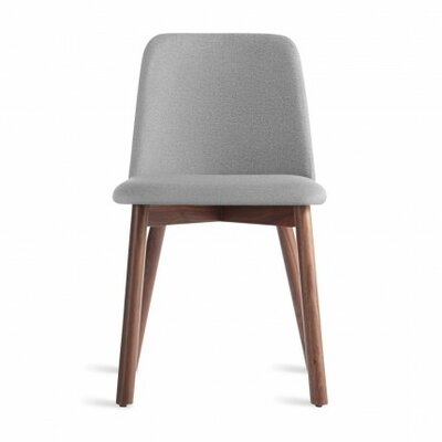 Chip Side Chair Upholstery: Pewter, Finish: Walnut