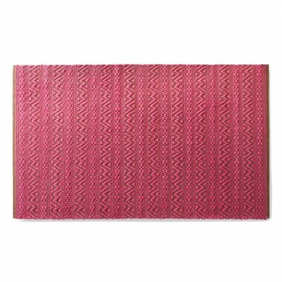 India Fuchsia and Dark Brown Area Rug Rug Size: 5 x 8