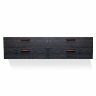 Shale 4 Drawer Double Dresser Color: Smoke