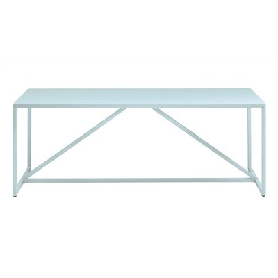 Strut 74.5 Table Finish: Robins Egg Blue, Size: X-Large - 90