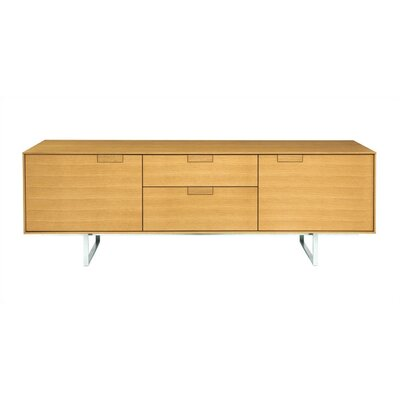 Image of Blu Dot Series 11 Two Drawer / Two Door Console Wood: Graphite-On-Oak (BLD1058_2405187)