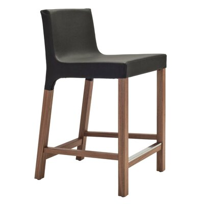 Knicker 25.5 Bar Stool Body Fabric: Black Vinyl
