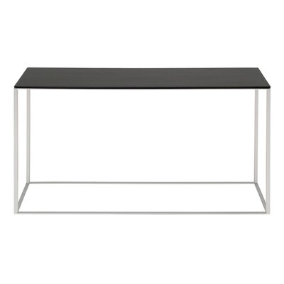 Minimalista Console Table Top Finish: Graphite on Oak, Base Finish: White