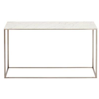 Minimalista Console Table Top Finish: Marble, Base Finish: White