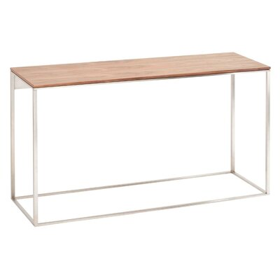 Minimalista Console Table Top Finish: Walnut, Base Finish: White