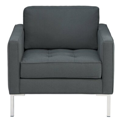 Paramount Fabric Armchair Upholstery: Libby Charcoal