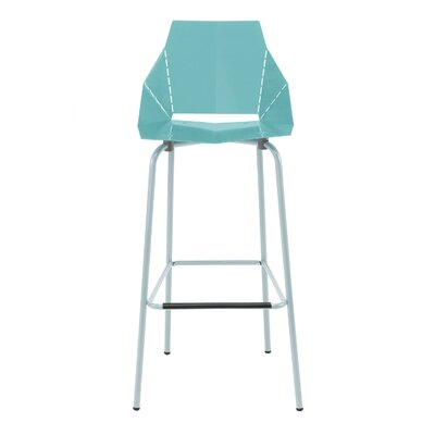 Real Good Bar Stool Body Fabric: Aqua / Blue