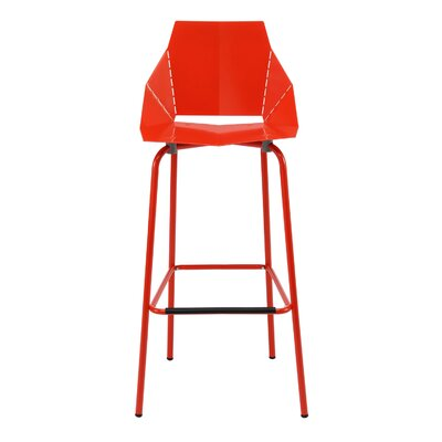 Real Good Counter Stool Body Fabric: Red