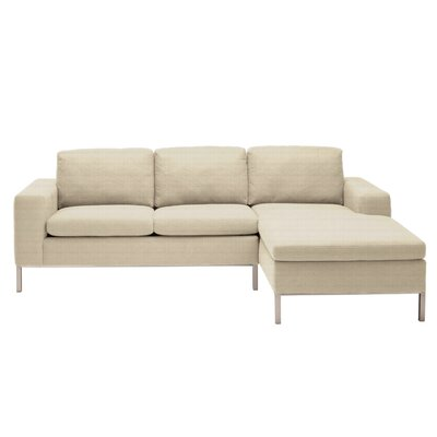 Standard Reversible Chaise Sectional Upholstery: Stone, Orientation: Right Hand Facing
