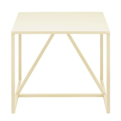 Strut End Table Color: Ivory