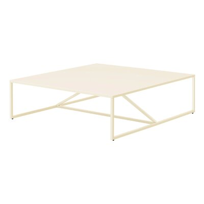 Strut Square Coffee Table Finish: Ivory