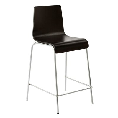 24.5 Bar Stool Wood: Graphite-on-Oak