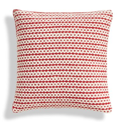 Nana Stripe Wool Throw Pillow Color: Red