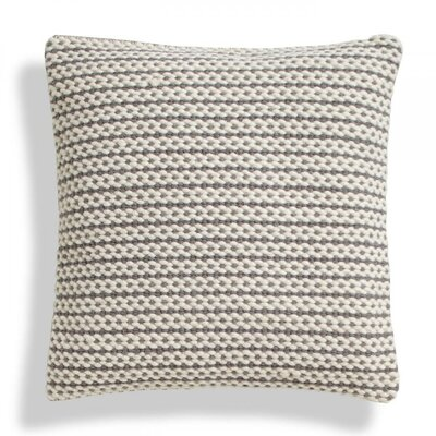 Nana Stripe Wool Throw Pillow Color: Mid-Grey