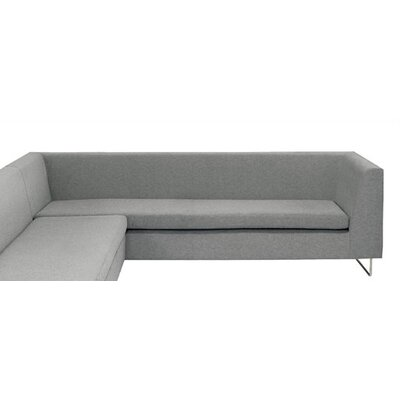 Bonnie and Clyde Armed Sofa Upholstery: Silver Gray