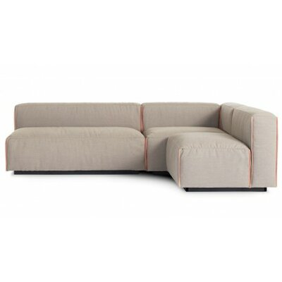 Cleon Small Modular Sectional Upholstery: Cement