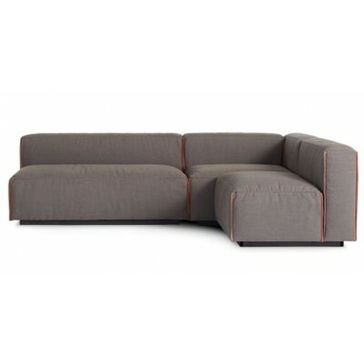 Cleon Small Modular Sectional Upholstery: Basalt