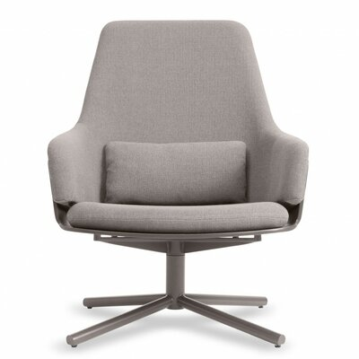 Lock Swivel Lounge Chair Upholstery: Condit Silver Grey