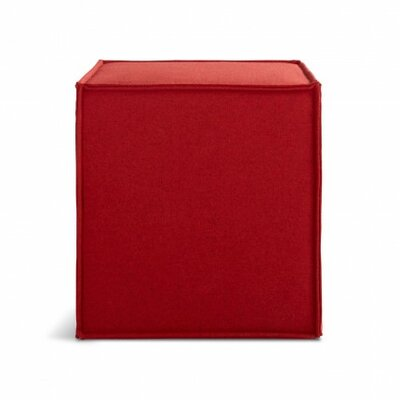 Otto Pouf Ottoman Upholstery: Thurmond Red