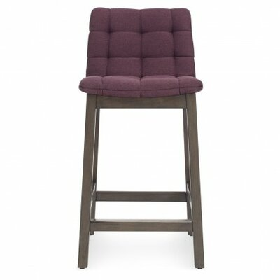 Wicket Smoke Bar Stool Upholstery: Purple