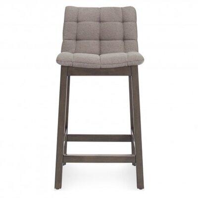 Wicket Smoke Bar Stool Upholstery: Pewter