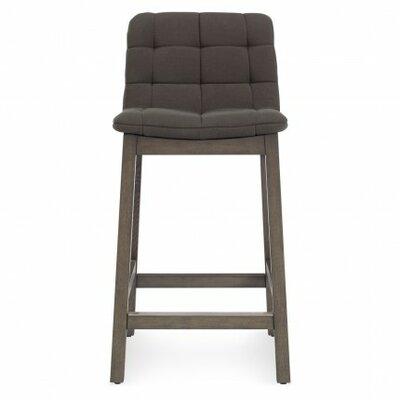 Wicket Smoke Bar Stool Upholstery: Iron