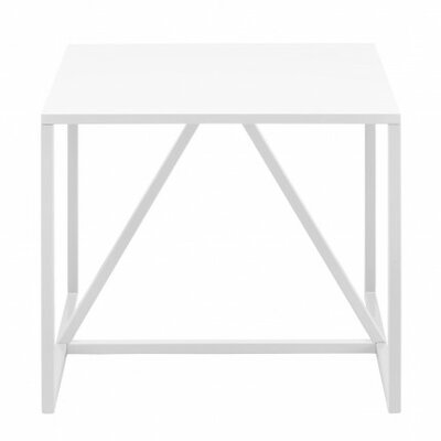 Strut End Table Color: White