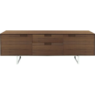 Series 11 84 TV Stand Wood Color: Walnut