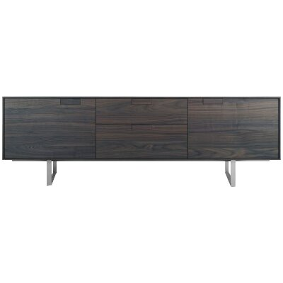 Series 11 84 TV Stand Wood Color: Smoke-On-Ash