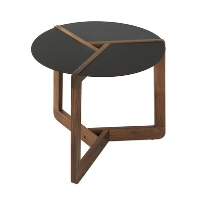Pi Small End Table Size: Large, Color: Walnut