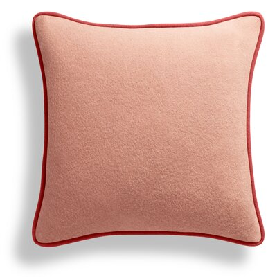 Duck Duck Square Pillow Color: Thurmond Lilac/Blush/Tomato Piping
