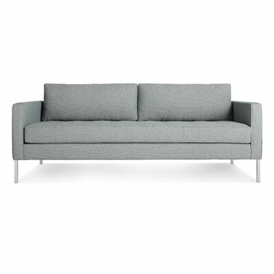 Paramount Medium Sofa Body Fabric: Sanford Ceramic, Leg Color: Stainless Steel