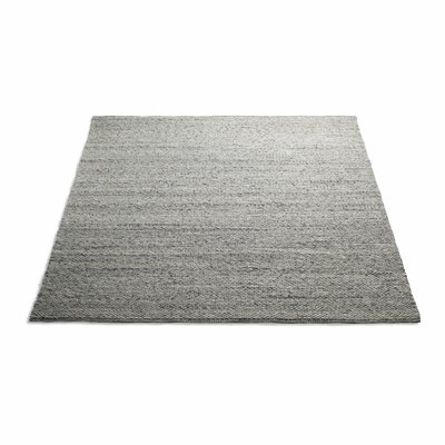 Sinder Hand-Woven Wool Gray Area Rug Rug Size: 8 x 10