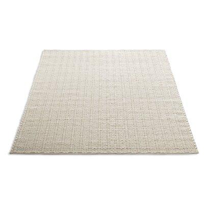 Uni Hand-Woven Wool Cream Area Rug Rug Size: 9 x 12