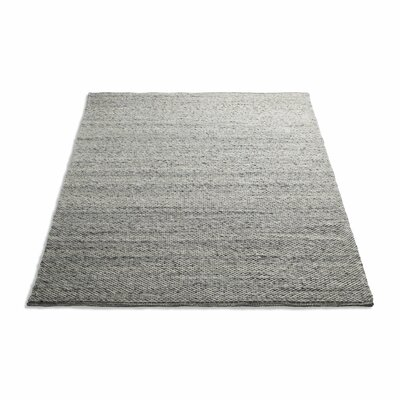 Sinder Hand-Woven Wool Gray Area Rug Rug Size: 5 x 8